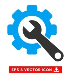 Gear And Wrench Eps Icon vector