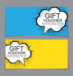 Gift voucher template with cartoon background vector
