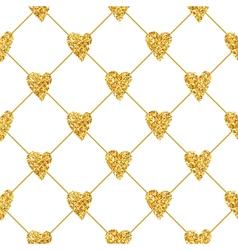 Golden Heart Glitter Background vector image