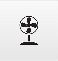 gray fan icon isolated background modern simple f vector image