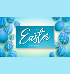 Happy easter with colorful painted vector