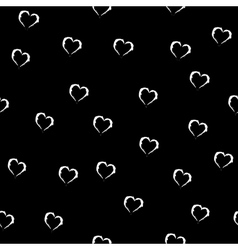 Heart white seamless pattern vector image