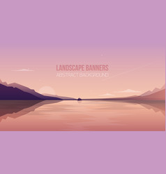 horizontal banner with gorgeous seaside landscape vector image