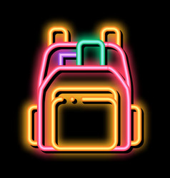 Human shop backpack neon glow icon vector