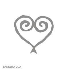Icon with adinkra symbol sankofa dua vector