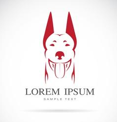 Image of an dog doberman vector