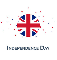 independence day of united kingdom patriotic vector image