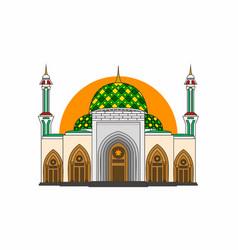 Kepulauan riau capital mosque vector
