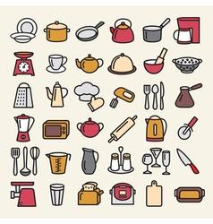 Kitchenware lline vector