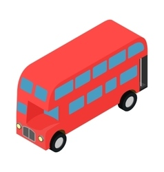 London double decker red busicon vector image