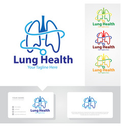 Lung health logo designs vector