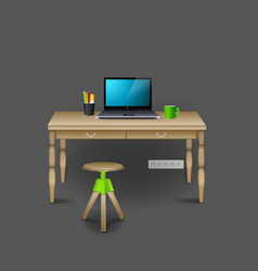 mockup modern workplace interior template layout vector image