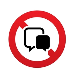 No Chat sign icon Speech bubble symbol vector