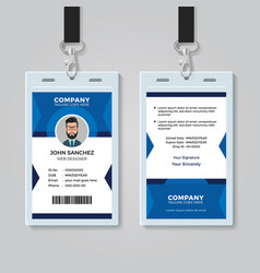 Office identity card template vector