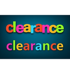 Paper clearance colorful sign vector