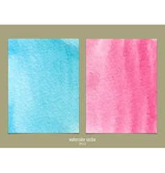 Pink and blue watercolor vector image