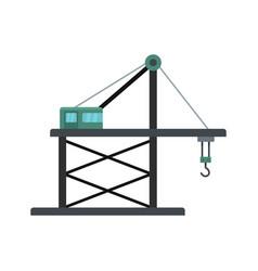 platform crane icon flat style vector image
