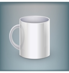 Realistic classic white cup vector