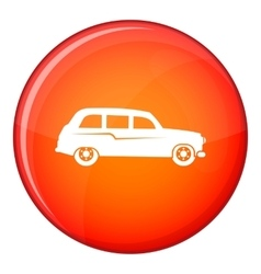 Retro car icon flat style vector