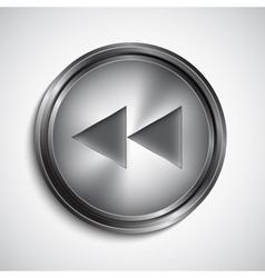 Rewind button vector