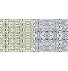 seamless floral spring patterns vector image