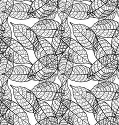 seamless out line leaves background vector image