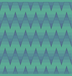 seamless pattern with ombre zig zag in teal vector image