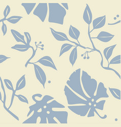 seamless wallpaper with plants vector image
