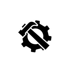 service tools icon in flat style for app ui vector image