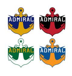 set anchor sport crests template design vector image