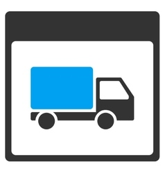 Shipment Truck Calendar Page Toolbar Icon vector