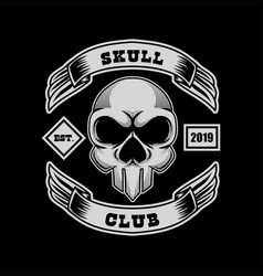 skull club vector image