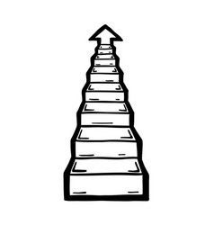 Stairs go up vector