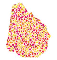Star mosaic map of uruguay vector