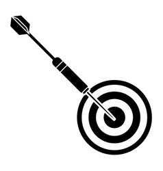 Targert dart game sport pictogram vector