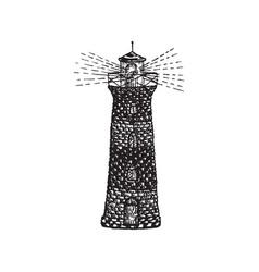 Tattoo lighthouse vector