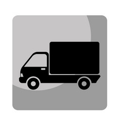Truck delivery service icon vector