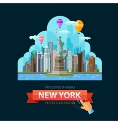 USA logo design template New York city or vector