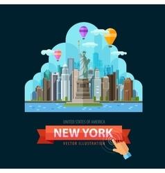Usa logo design template new york city vector