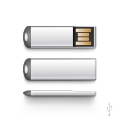 USB Flash Drive Stick Memory Set Isolated vector