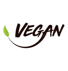 Vegan logo white background vector