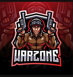 Warzone esport mascot logo vector
