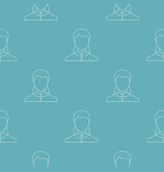 woman user pattern seamless vector image