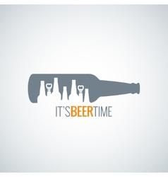 beer bottle city concept design background vector image