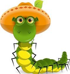 caterpillar vector image vector image
