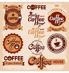 Coffee label vector image