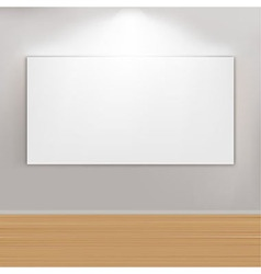 Empty Paintings Frame On Wall vector image vector image