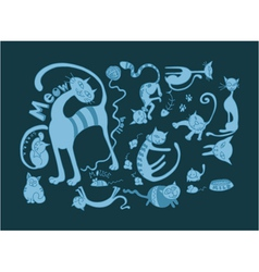 funny doodles vector image vector image