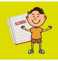 kid with notebook isolated icon design vector image
