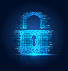 online security vector image